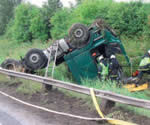 Casos de accidente en el test ADR para cisternas